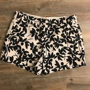J. Crew Black & White Print Shorts